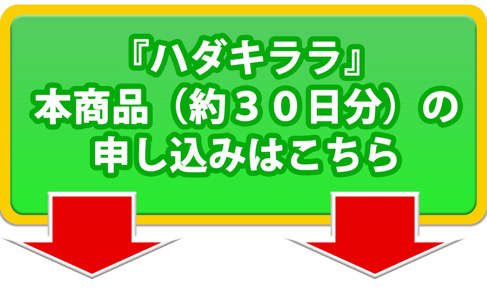大きな緑の誘導矢印