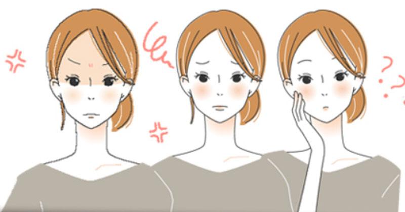 肌で悩んでいる女性のイメージ画像